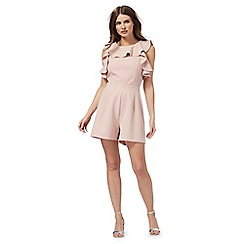 Red Herring - Light pink ruffled playsuit