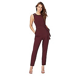 Red Herring - Dark red button jumpsuit