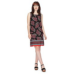 Red Herring - Black paisley printed shift dress
