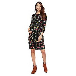 Red Herring Maternity - Black floral print maternity skater dress