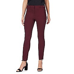 Red Herring - Dark red slim leg trousers