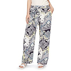 Red Herring - Multi-coloured paisley print trousers