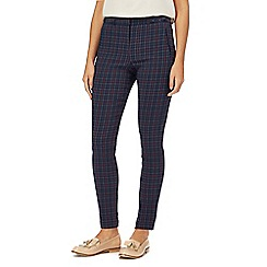 Red Herring - Navy check print tailored trousers