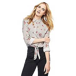Red Herring - Grey floral striped shirt