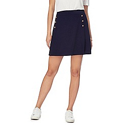 Red Herring - Navy six button skirt