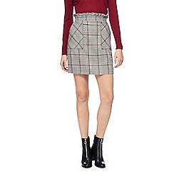 Red Herring - Multi coloured check print skirt
