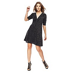 Red Herring - Black V-neck short sleeves mini dress