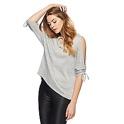 Red Herring - Silver sparkle ruched top
