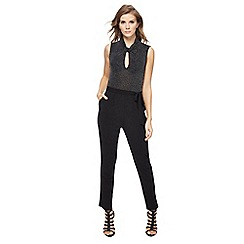 Red Herring - Black glitter jumpsuit