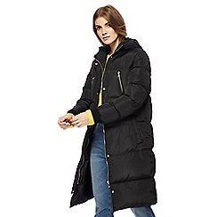 Red Herring - Black longline puffer coat