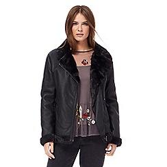 Red Herring - Black aviator coat