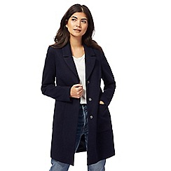 Red Herring Petite - Navy 'Modern City' coat
