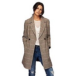 Red Herring - Beige heritage check coat