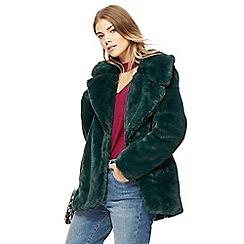 Red Herring - Green faux fur jacket