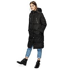 Red Herring - Black longline padded coat