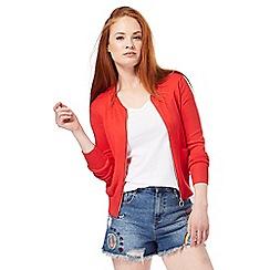 Red Herring - Red zip through cardigan