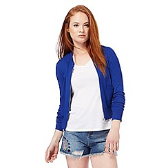 Red Herring - Blue zip through cardigan