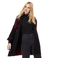 Red Herring - Black floral coatigan