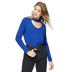 Red Herring - Blue choker neck jumper