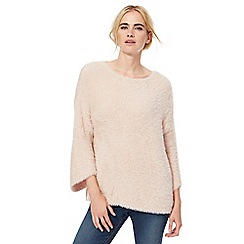 Red Herring - Pale pink fluffy jumper