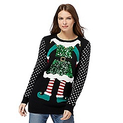 Red Herring - Navy elf Christmas jumper