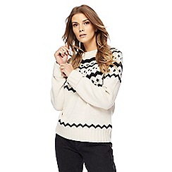 Red Herring - Cream Fair Isle knitted jumper