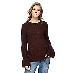Red Herring - Dark purple knitted jumper