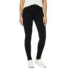 Red Herring - Black 'Heidi' ultra-stretch high-waisted skinny jeans