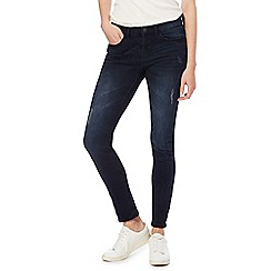 Red Herring - Dark blue 'Holly' mid rise skinny jeans