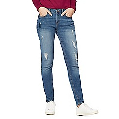 Red Herring - Mid blue ripped skinny jeans