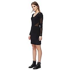 Noisy may - Black V neck long sleeve bodycon dress
