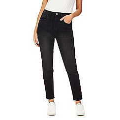 Red Herring - Black 'Harper' washed straight jeans