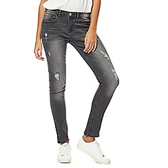 Red Herring - Grey 'Holly' ankle grazer skinny jeans