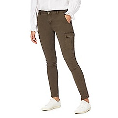 Red Herring - Khaki 'Holly' cargo skinny jeans