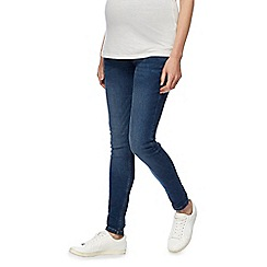 Red Herring Maternity - Blue maternity over the bump skinny jeans