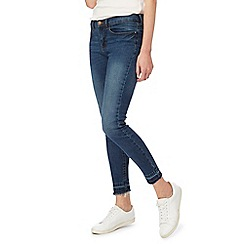 Red Herring - Blue 'Holly' skinny mid wash ankle grazer jeans