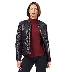 Noisy may - Black lightweight puffer jacket