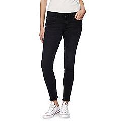 Noisy may - Black skinny 'Eve' frayed ankle grazer jeans