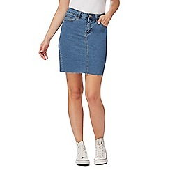 Noisy may - Blue denim high waisted skirt