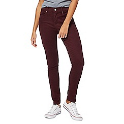 Levi's - Dark red shaping skinny jeans