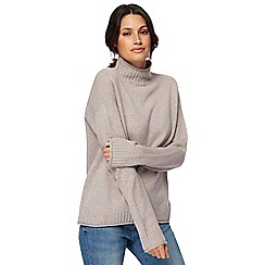 Levi's - Cream space dye funnel neck jumper