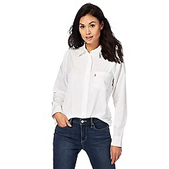 Levi's - White boyfriend fit shirt
