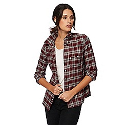 Levi's - Wine red modern western check shirt