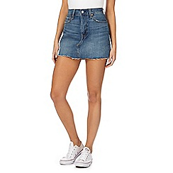 Levi's - Blue washed mini denim skirt