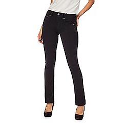 G-Star - Black 'Midge' straight leg jeans