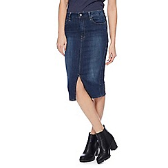 G-Star - Blue denim slim pencil skirt