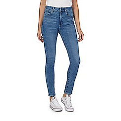 G-Star - Mid blue high waisted skinny jeans