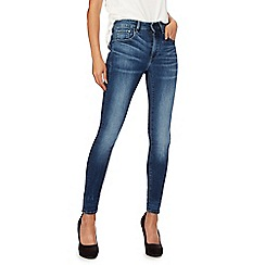 G-Star - Blue skinny '3301' high waisted skinny jeans