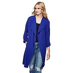 Red Herring - Bright blue waterfall manteau jacket