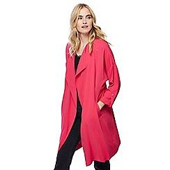 Red Herring - Bright pink waterfall manteau jacket